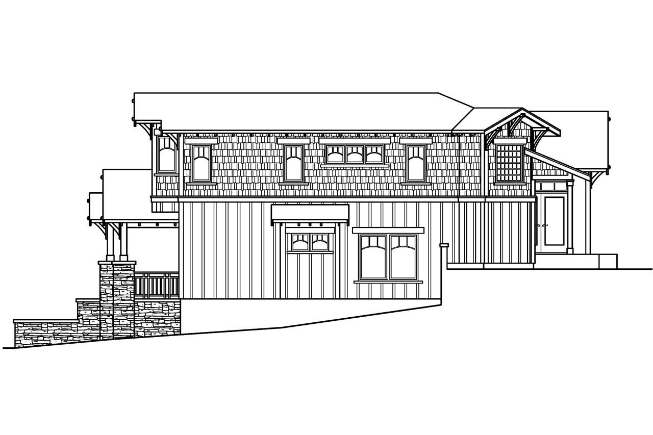 Craftsman house plans kelseyville 30 476 associated for Bungalow plans and elevations