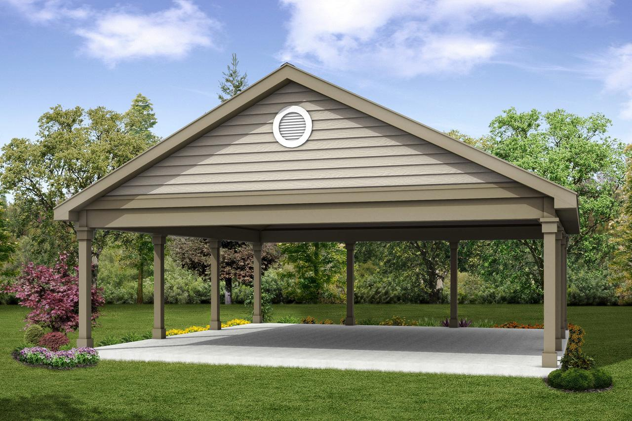 Classic house plans carport 20 055 associated designs for Carport garage plans