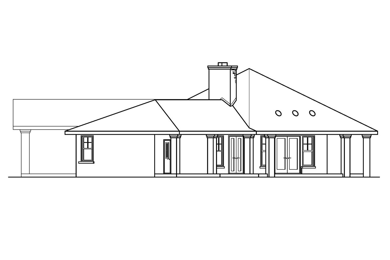 prairie style house plans aberdeen 10 428 associated designs chateau house plan aberdeen 10 428 left elevation