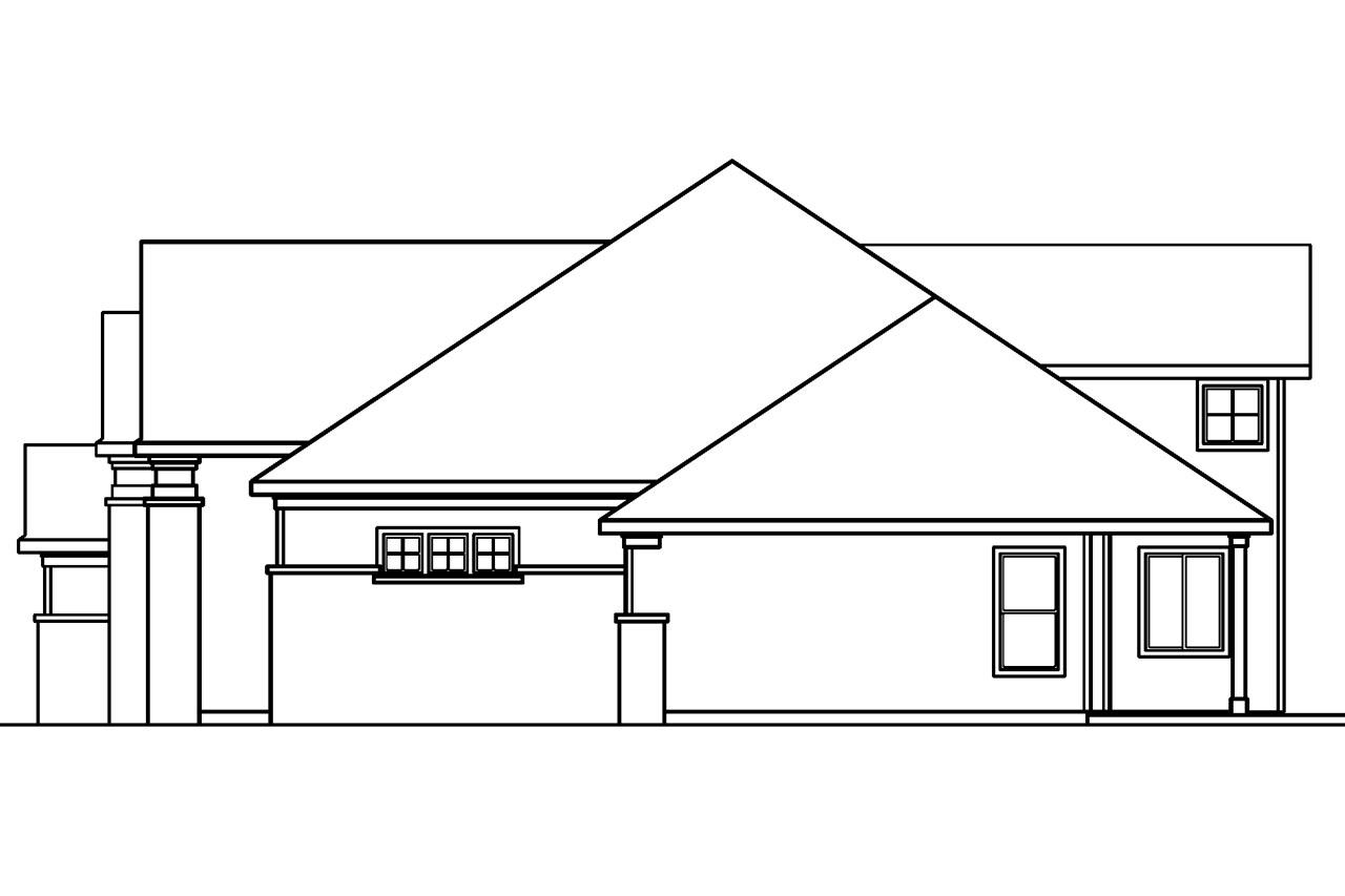 Craftsman house plans bethany 30 272 associated designs for Classic house elevation