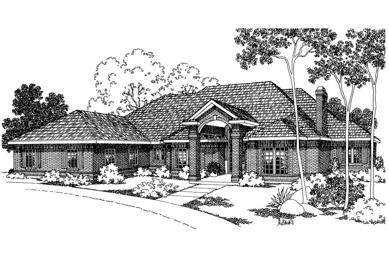Classic house plans brentwood 30 007 associated designs for Classic house fronts