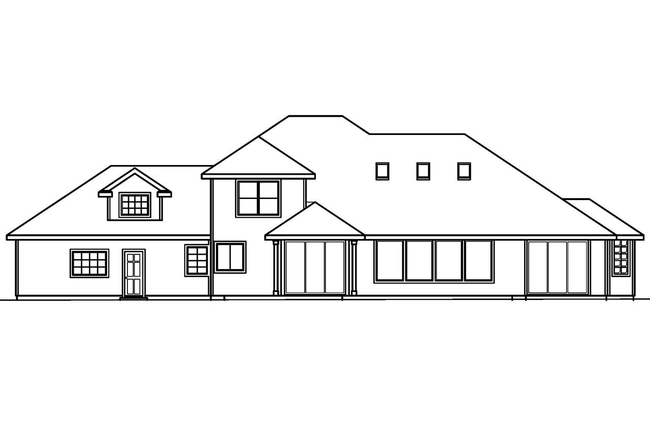 Traditional house plans colfax 30 224 associated designs for Classic house elevation