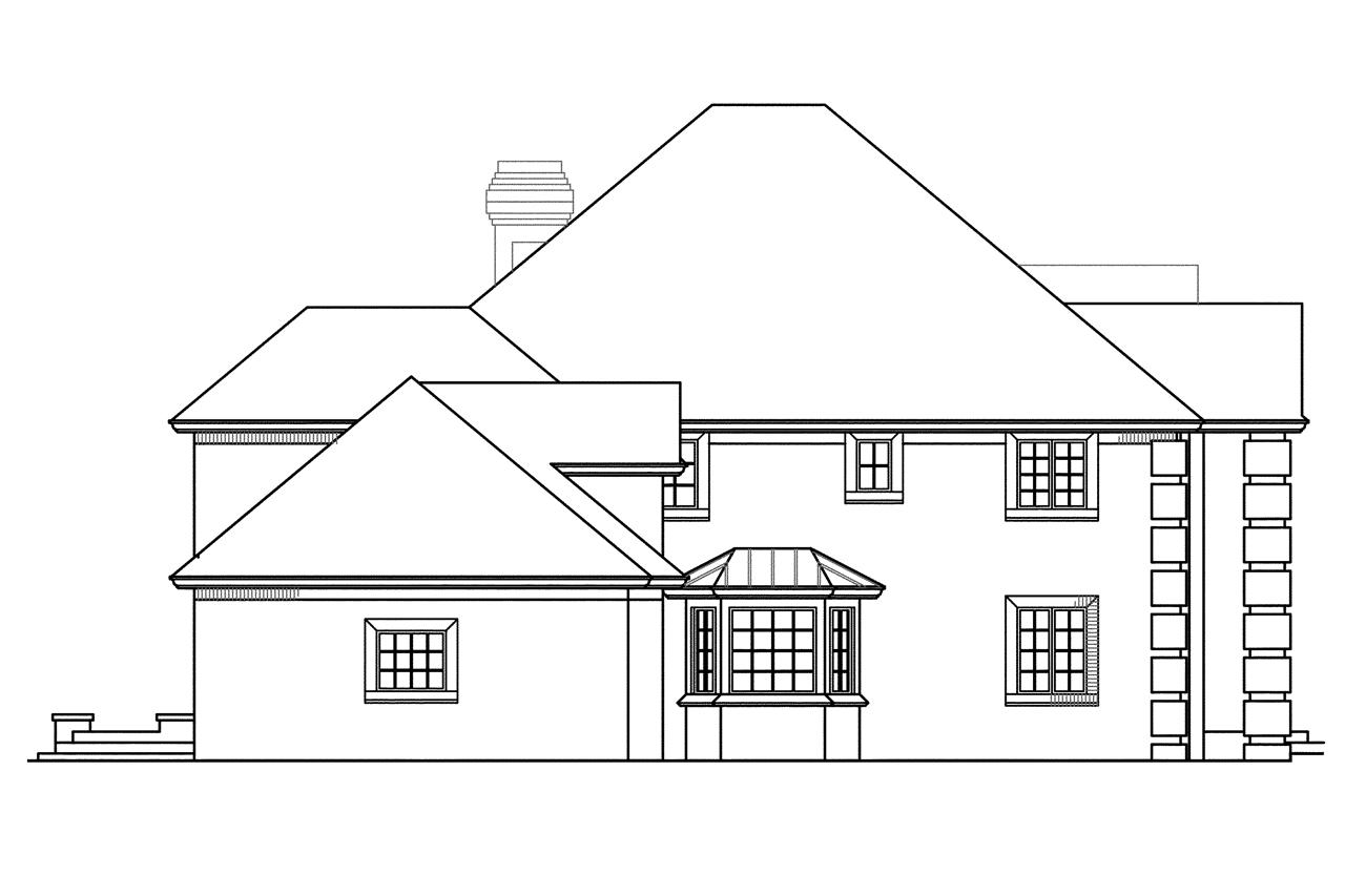 Colonial house plans franklin 50 001 associated designs for Classic house plan