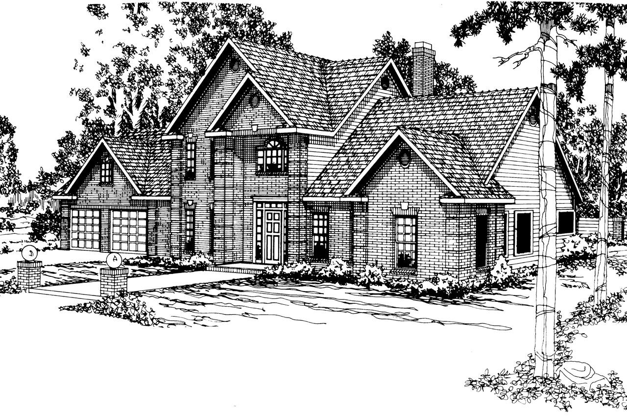 Front Elevation Classic : Classic house plans greenville associated designs