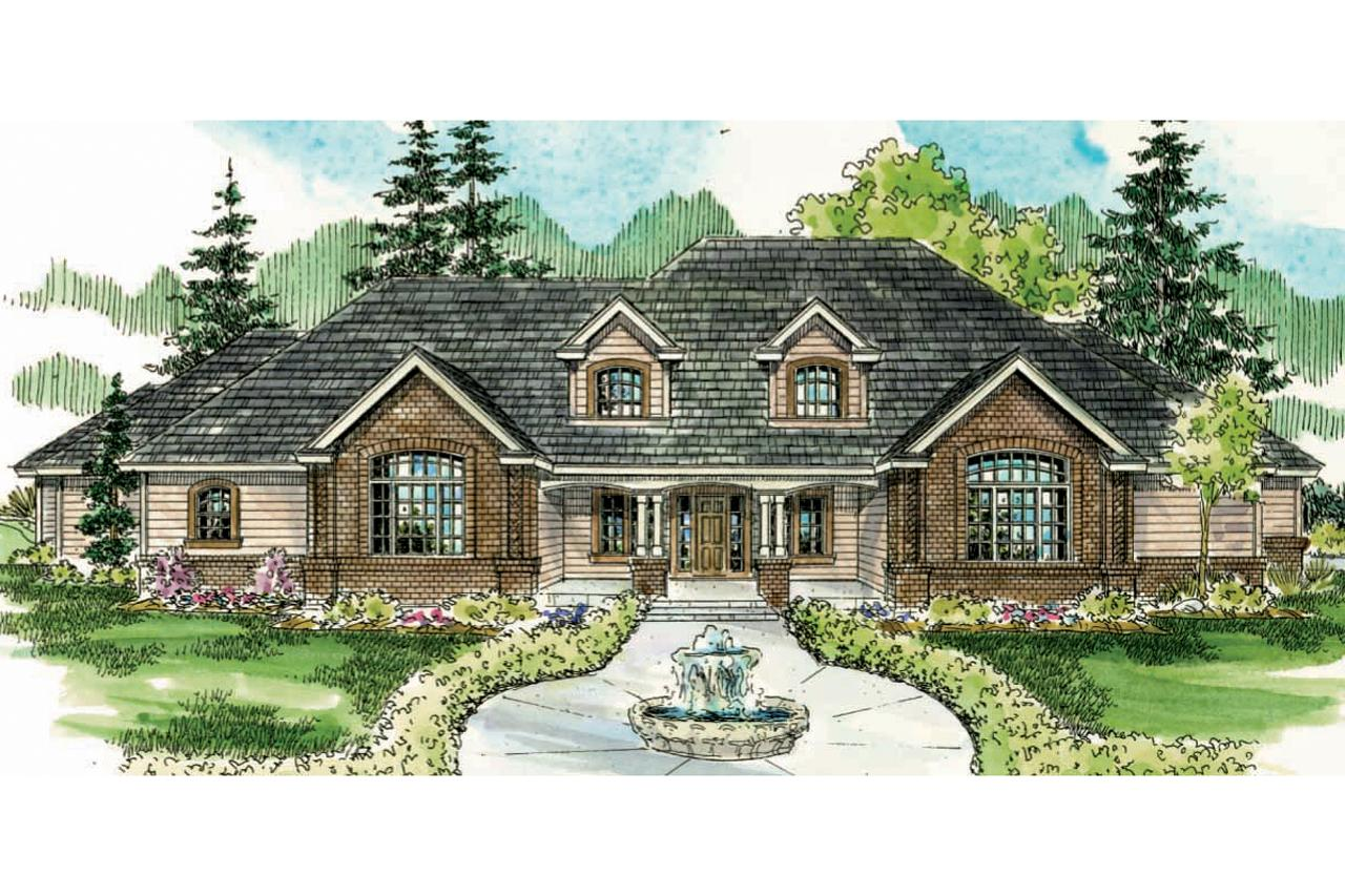 Front Elevation Classic : Classic house plan laurelwood front elevation