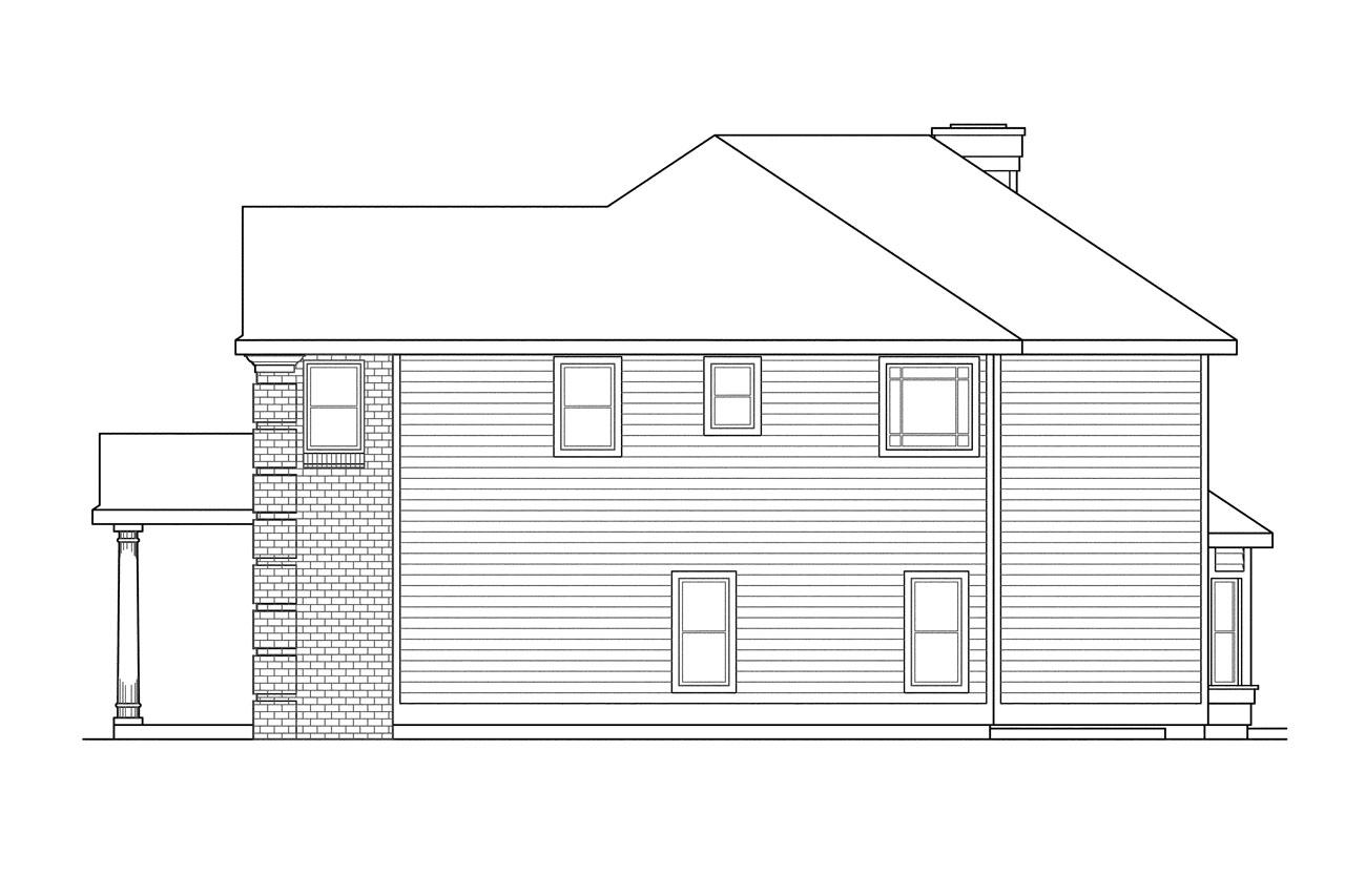 Colonial House Plans Willmar 30 048 Associated Designs
