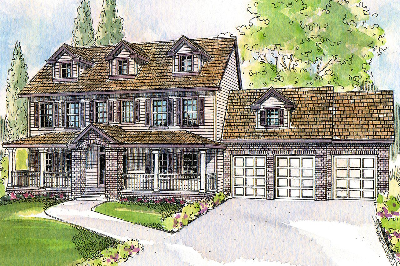 Colonial Front Elevation : Colonial house plans hanson associated designs