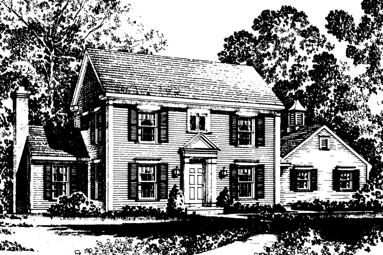 Colonial house plans maumee 42 007 associated designs for Colonial house plans