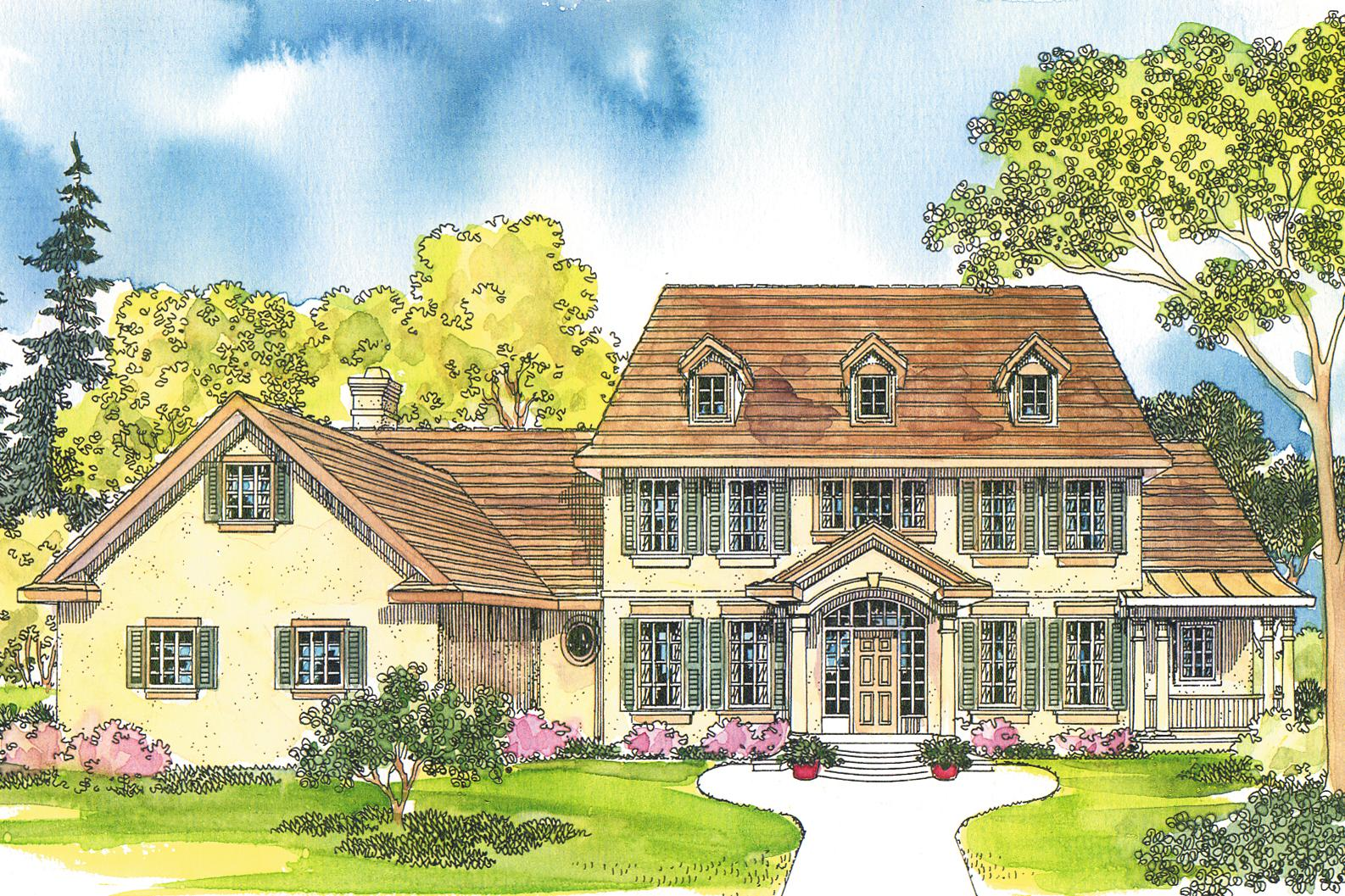 Colonial Front Elevation Designs : Colonial house plans palmary associated designs