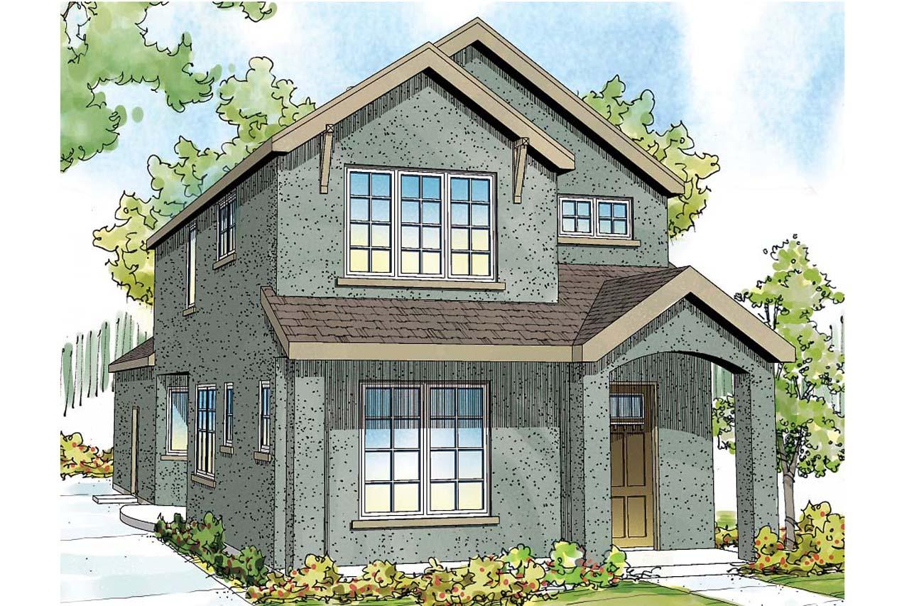Front Elevation Mirror : Contemporary house plans montrose ii associated