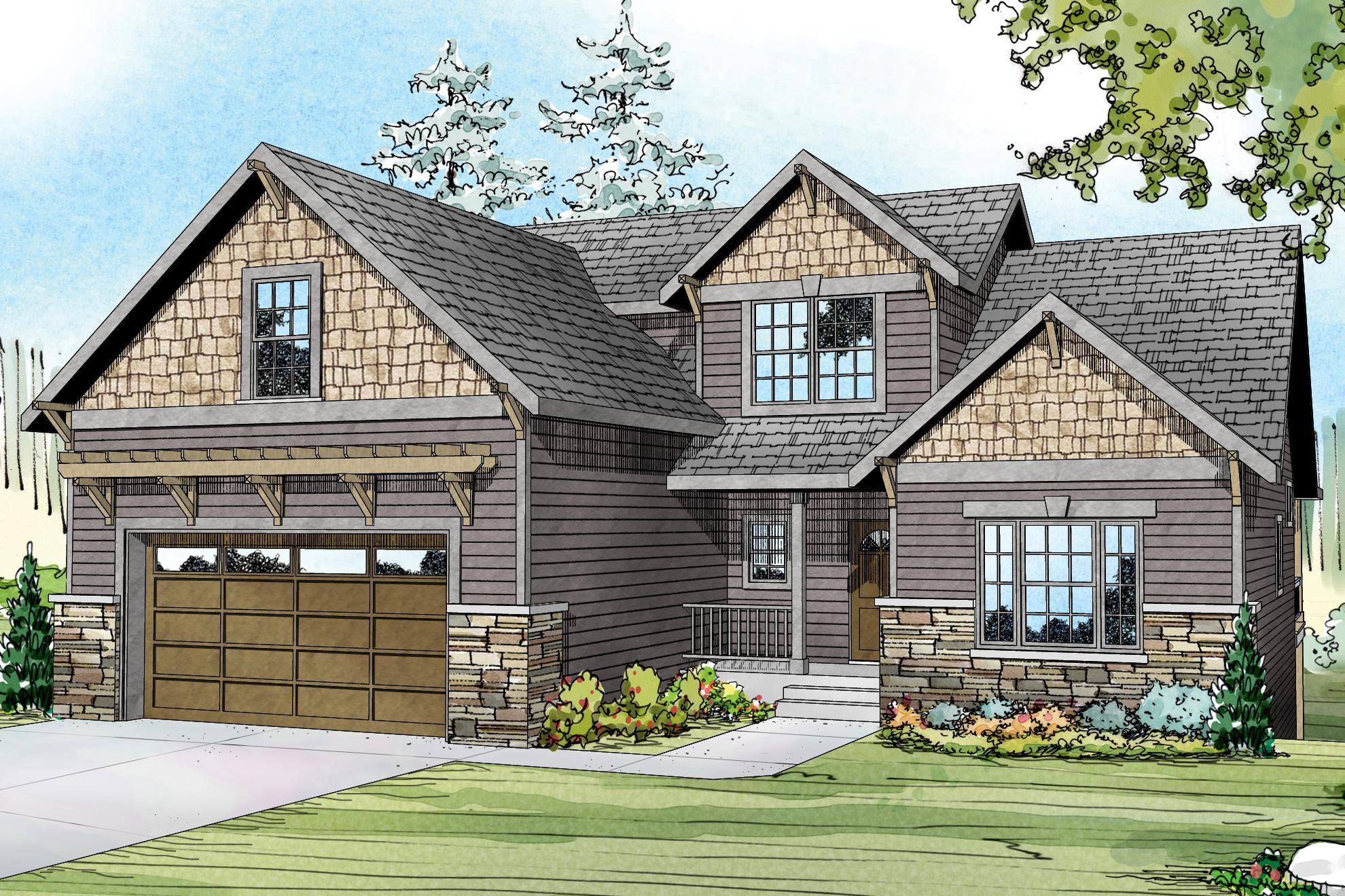 Country Cottage Elevation : Cottage house plans brookville associated designs