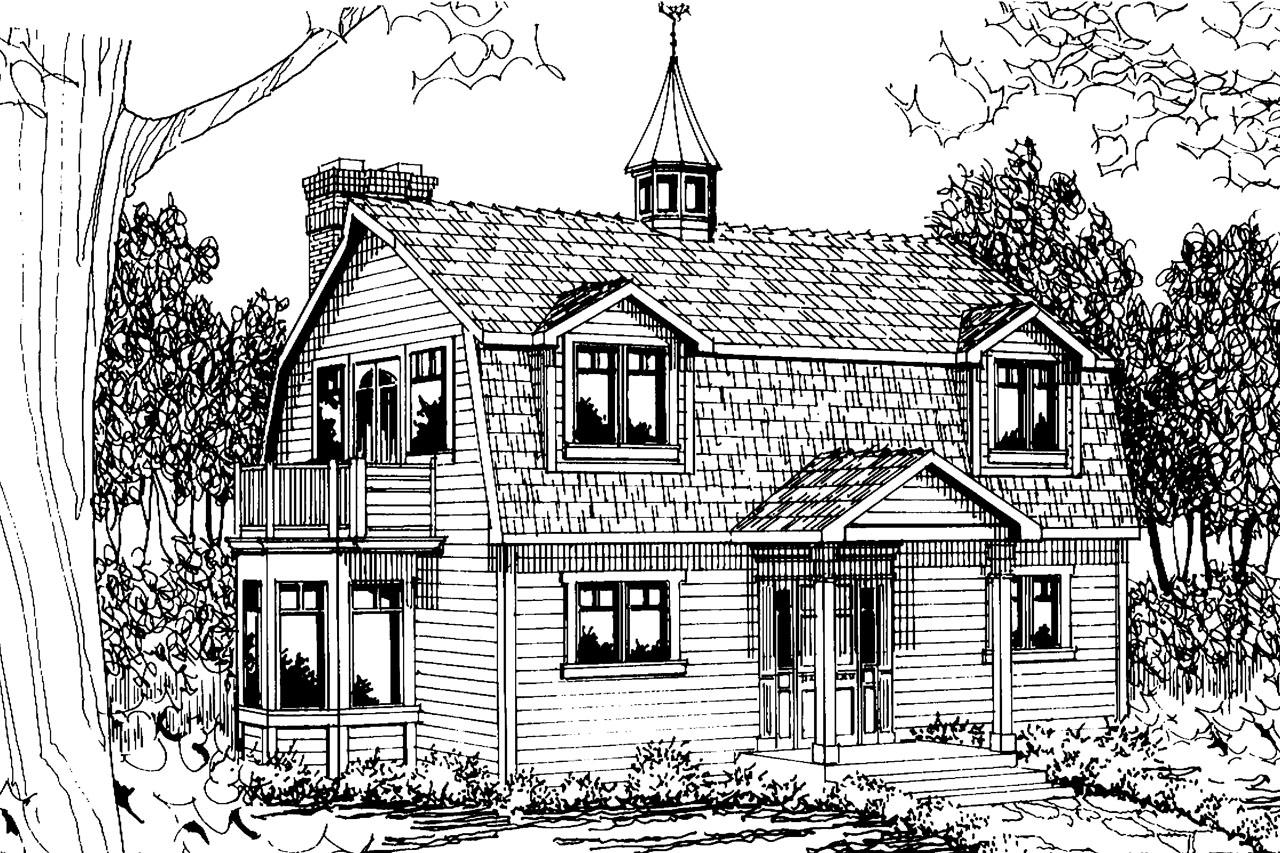 Home Front Elevation Jersey : Cottage house plans jersey associated designs