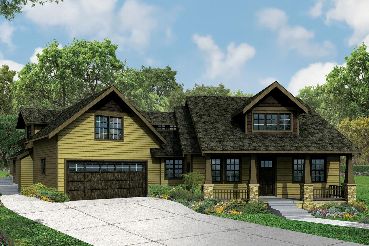 Front Elevation Craftsman : Craftsman house plans alexandria associated designs