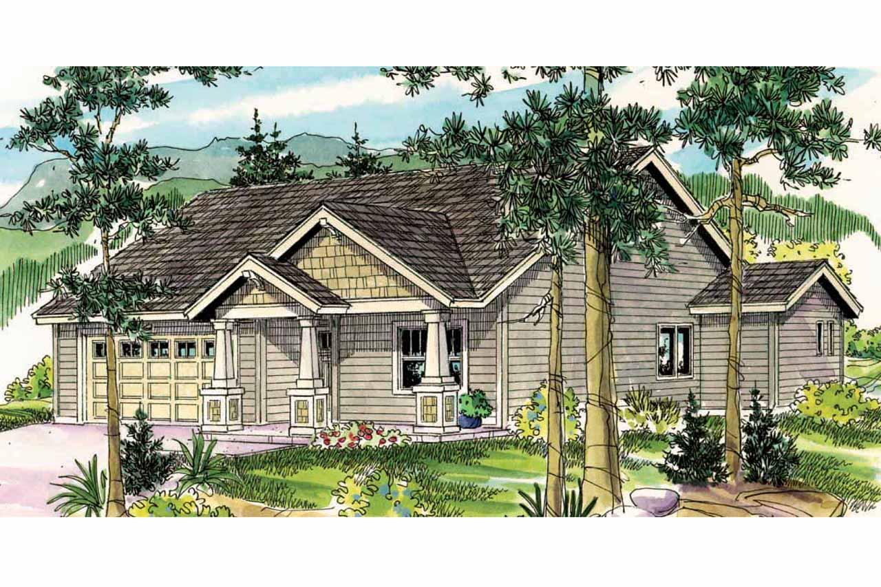 Craftsman house plans caraville 30 721 associated designs for Craftman house plans