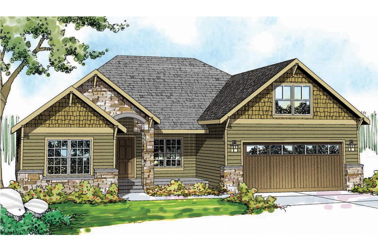 ... Craftsman House Plan   Cascadia 30 804   Front Elevation