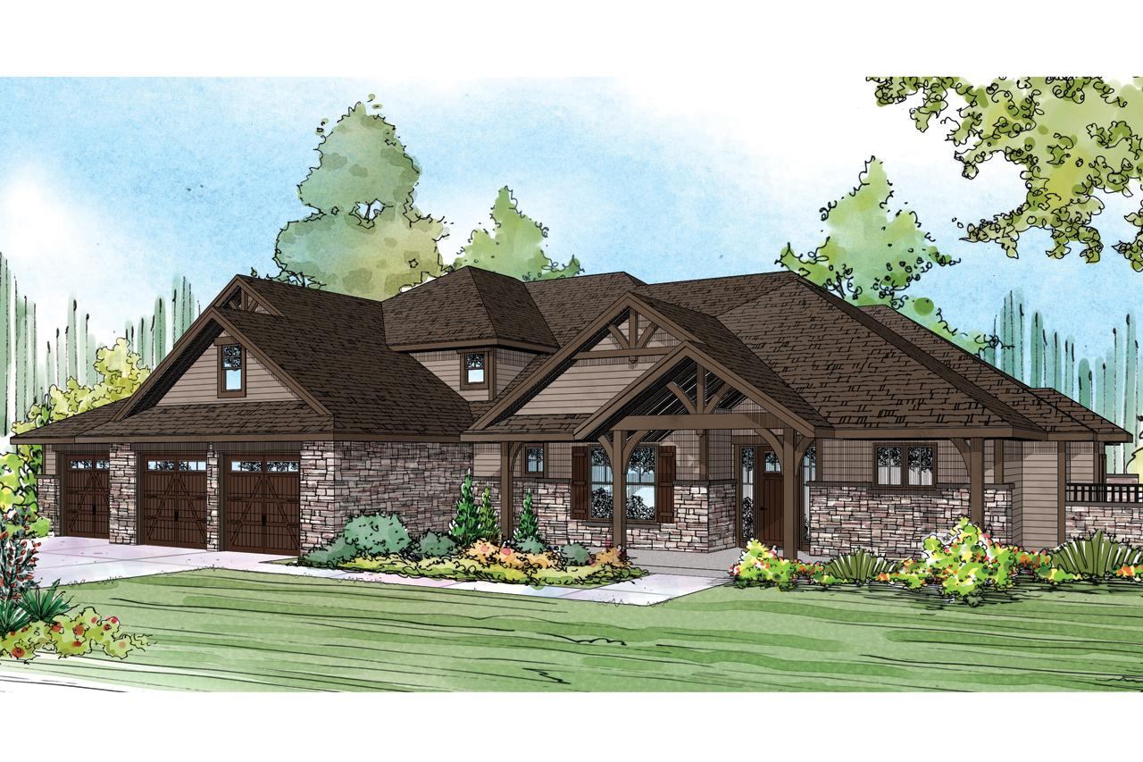 ... Craftsman House Plan   Cedar Creek 30 916   Front Elevation