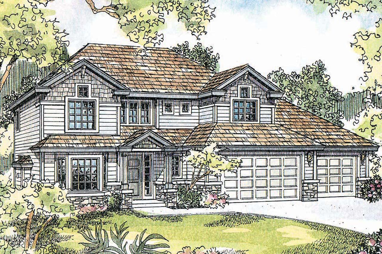 Craftsman house plans masterson 30 455 associated designs for Craftsman home elevations