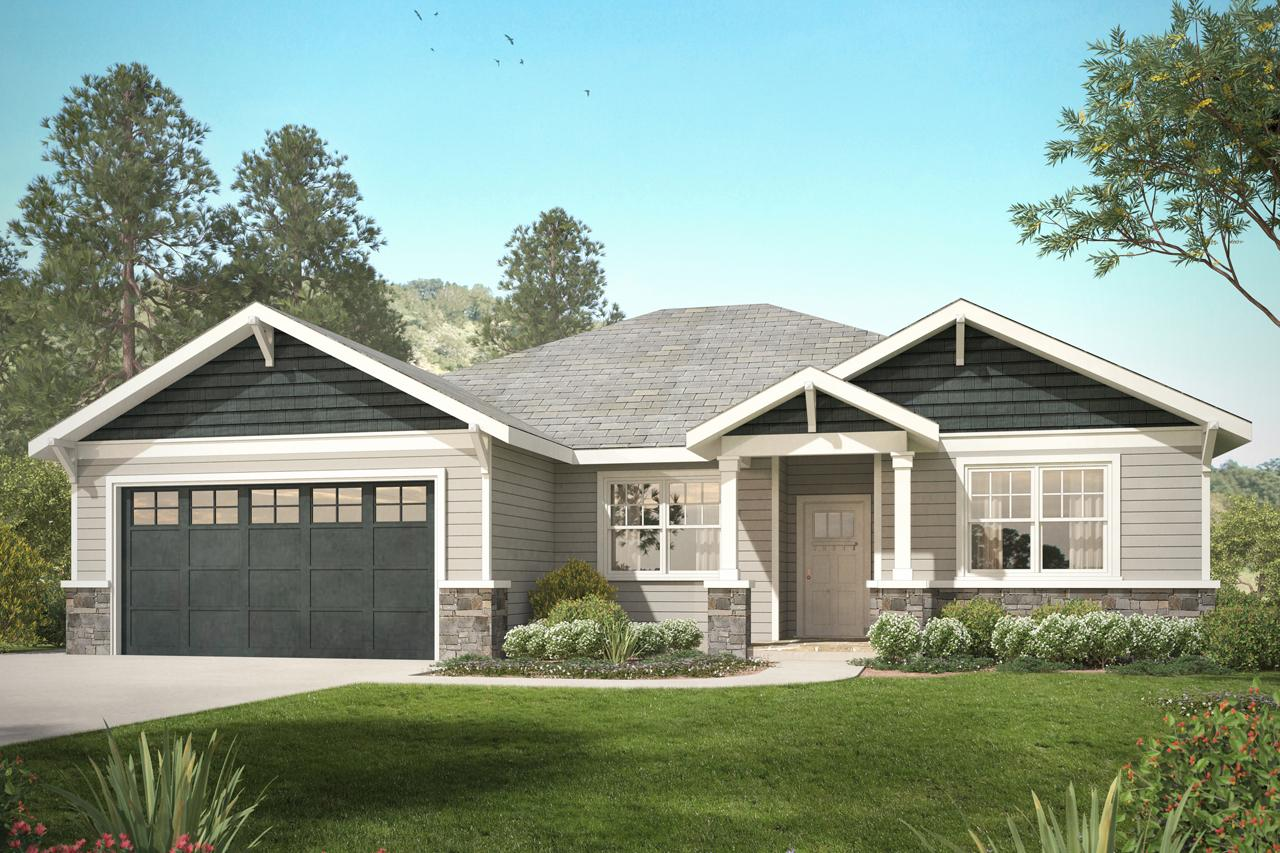 Front Elevation Craftsman : Craftsman house plans northampton associated