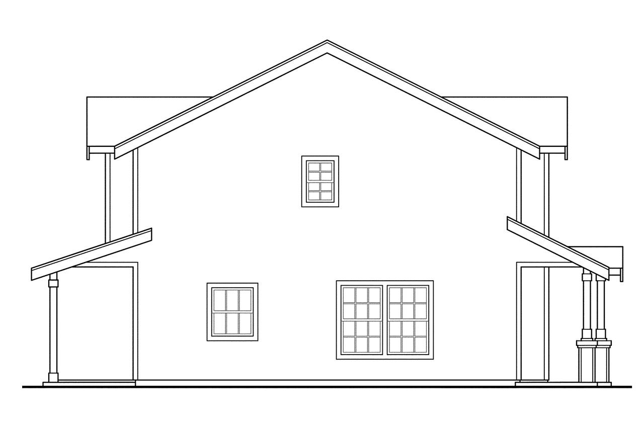 House Plan Elevation View : Side view of house plans