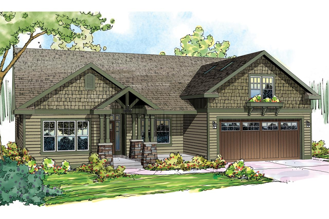 Single story front elevation joy studio design gallery Craftsman homes plans