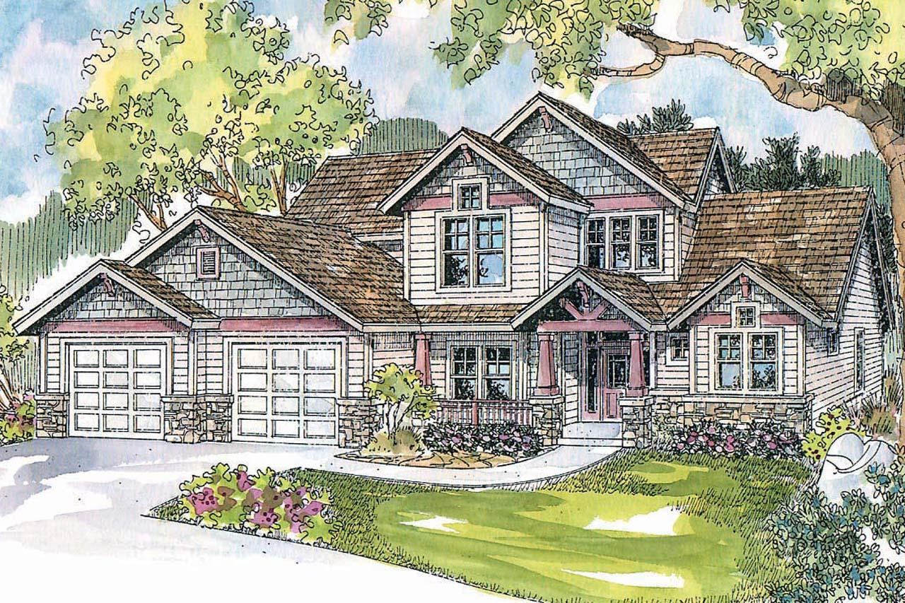 Front Elevation Craftsman : Craftsman house plans tazewell associated designs