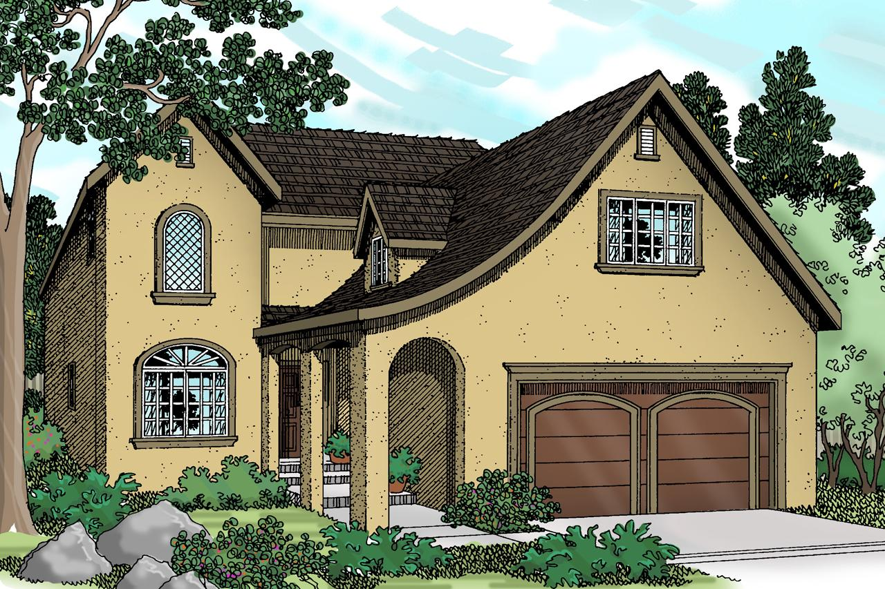 Front Elevation European : European house plans mirabel associated designs