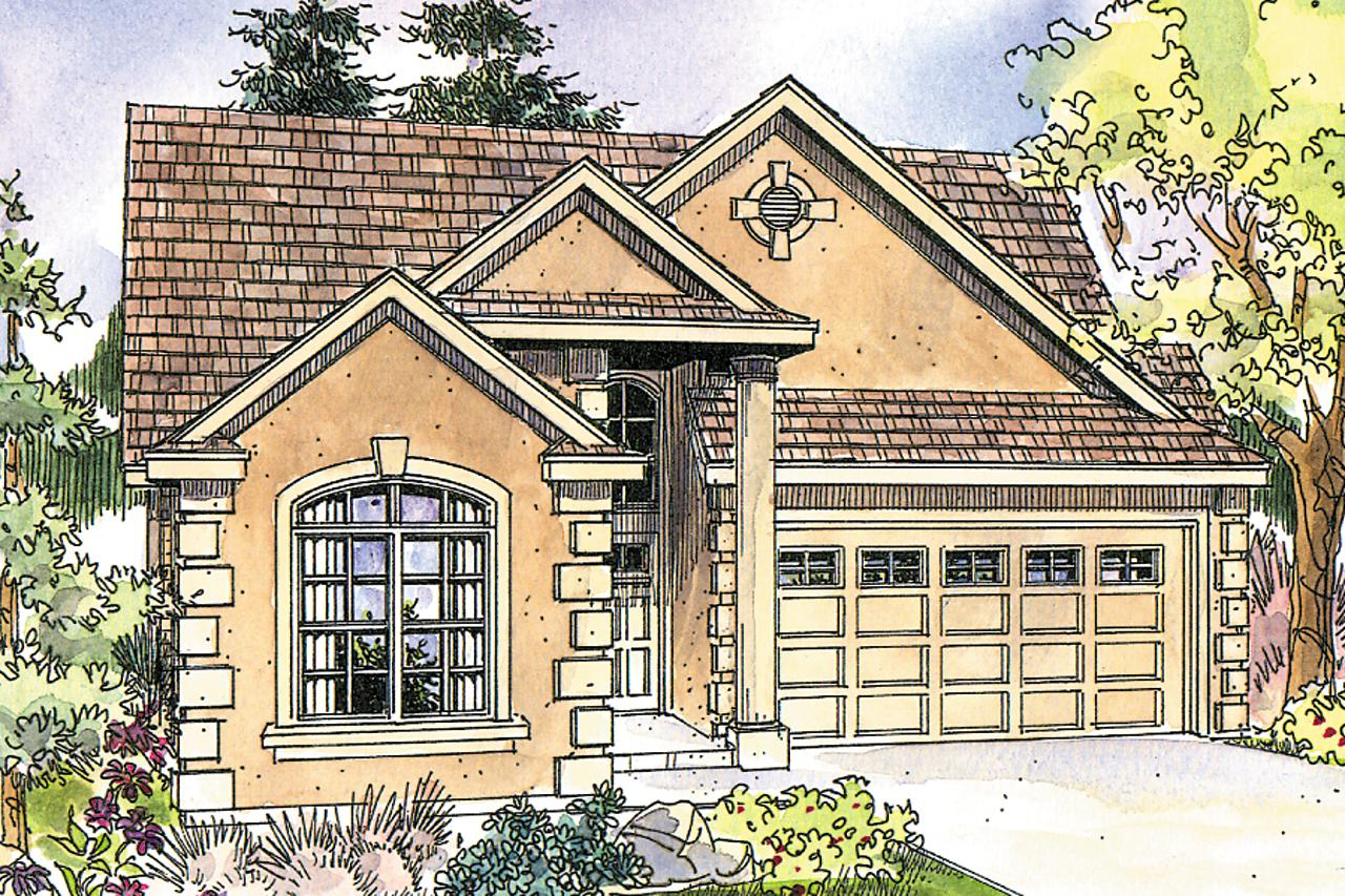 Front Elevation European : European house plans sedona associated designs