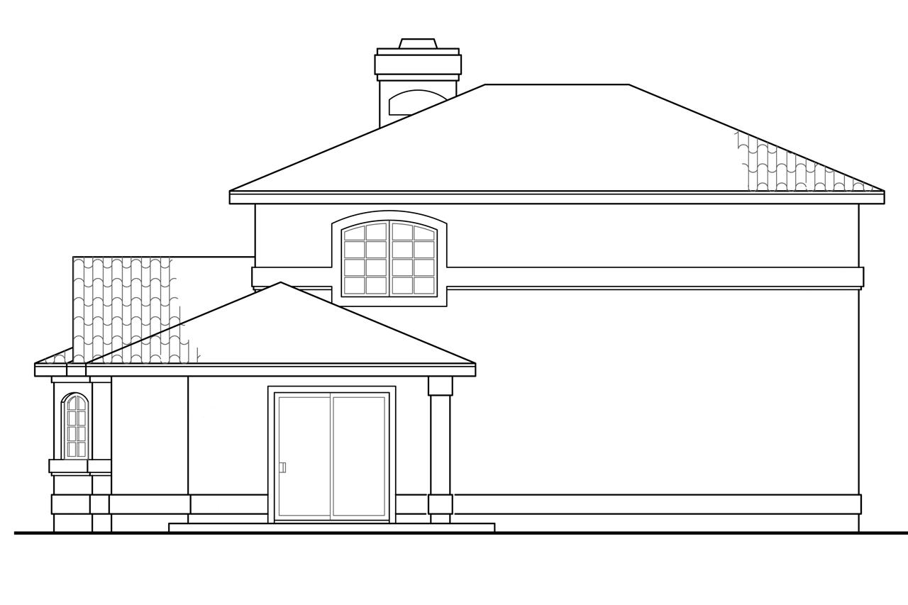 Mediterranean house plans southport 11 149 associated for What is rear elevation