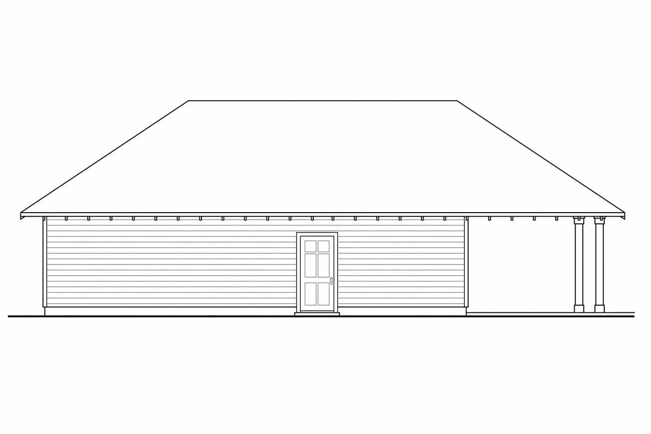 craftsman house plans garage w carport 20 033 associated designs garage design 20 033 rear elevation