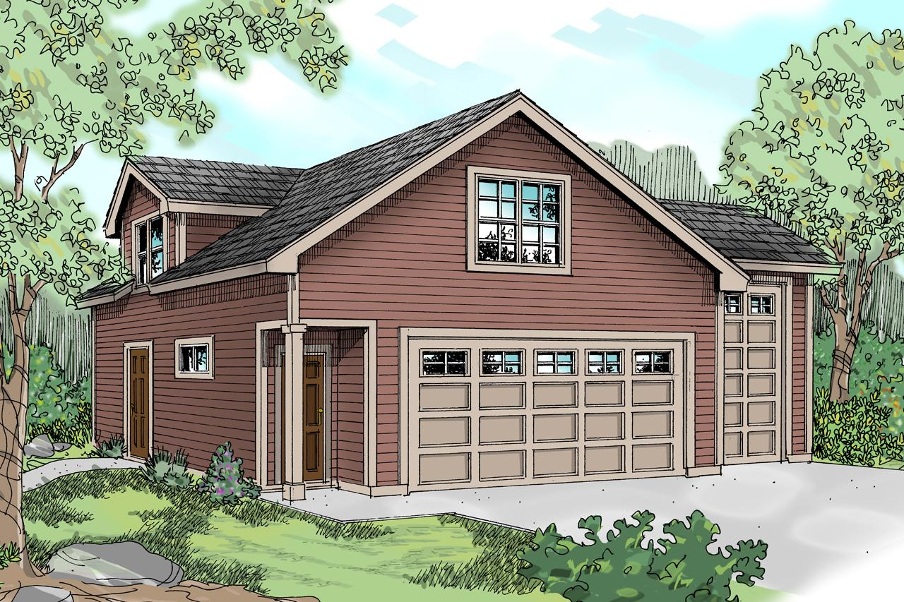 Front Elevation With Garage : Traditional house plans garage w living