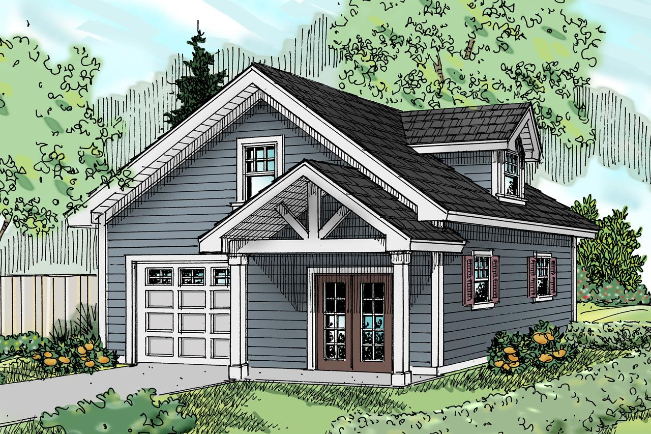 Front Elevation With Garage : Craftsman house plans garage w bonus associated