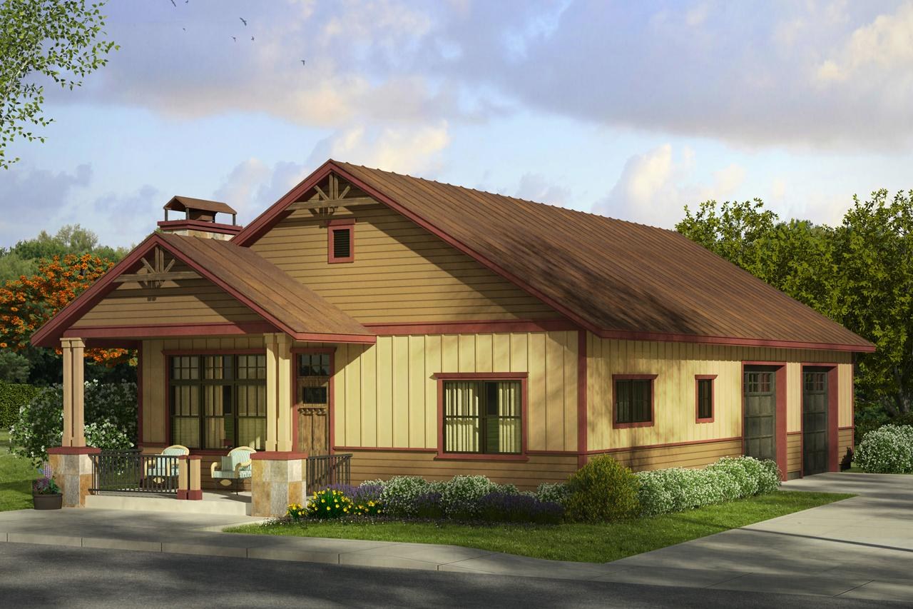 Cottage house plans garage w living 20 058 associated for Cottage home plans with garage