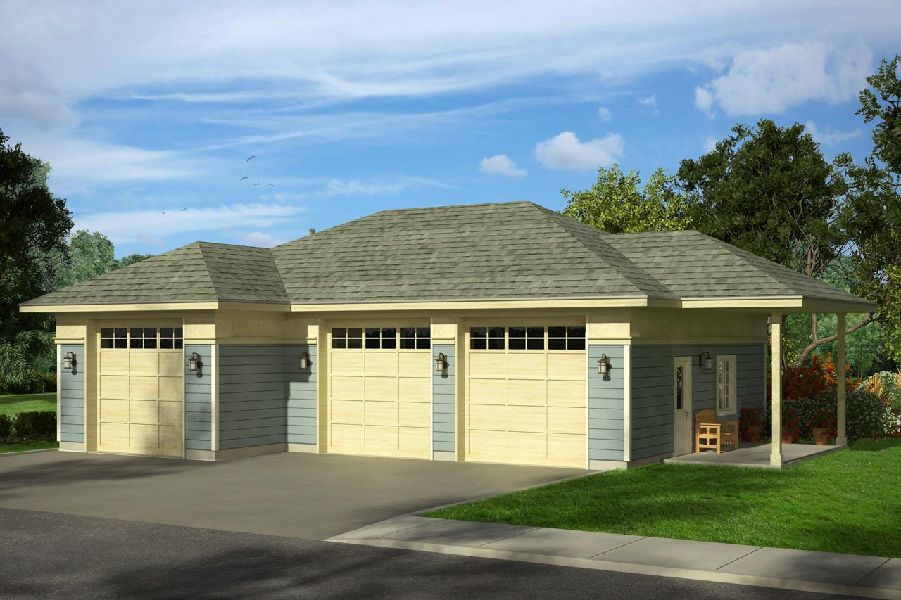Front Elevation With Garage : Country house plans garage associated designs