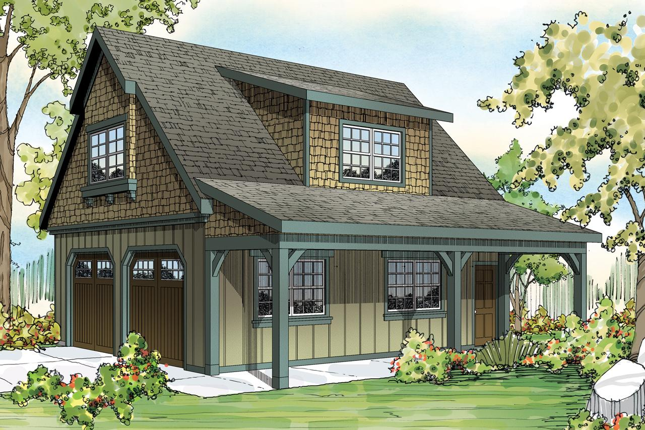 Craftsman house plans 2 car garage w attic 20 087 for Best garage plans