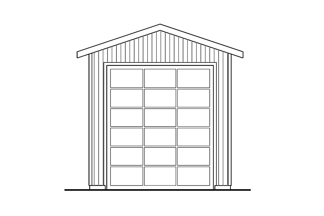 Front Elevation Mirror : Traditional house plans rv garage associated