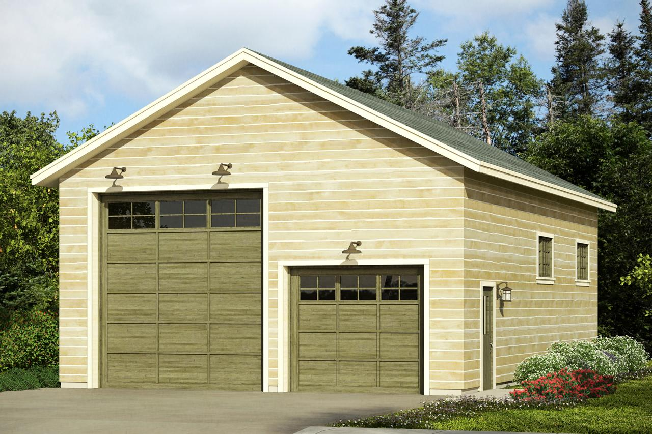Floor Front Elevation Garage : Traditional house plans rv garage associated