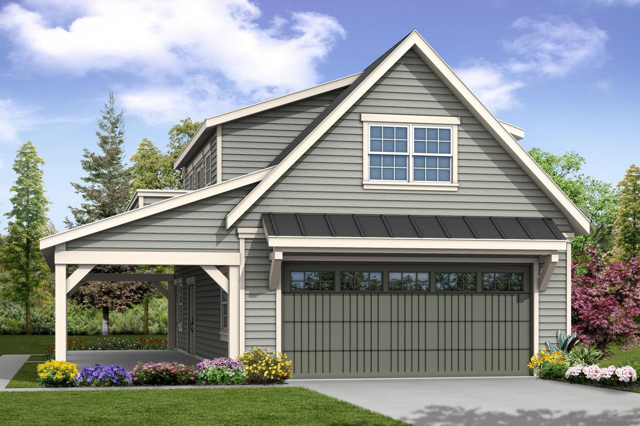 Front Elevation With Garage : Country house plans garage w loft associated