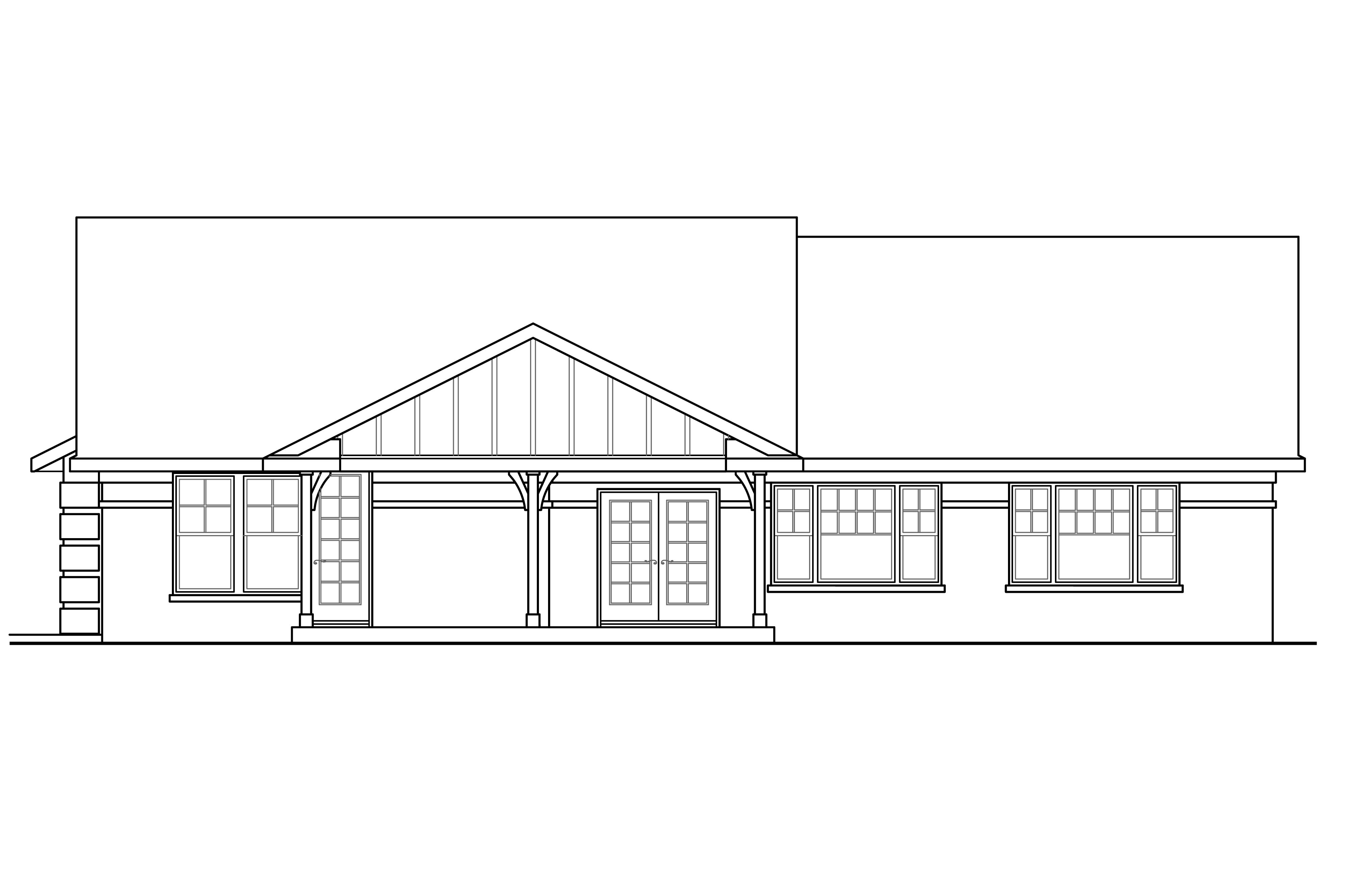 Ranch house plans bakersfield 10 582 associated designs for What is rear elevation
