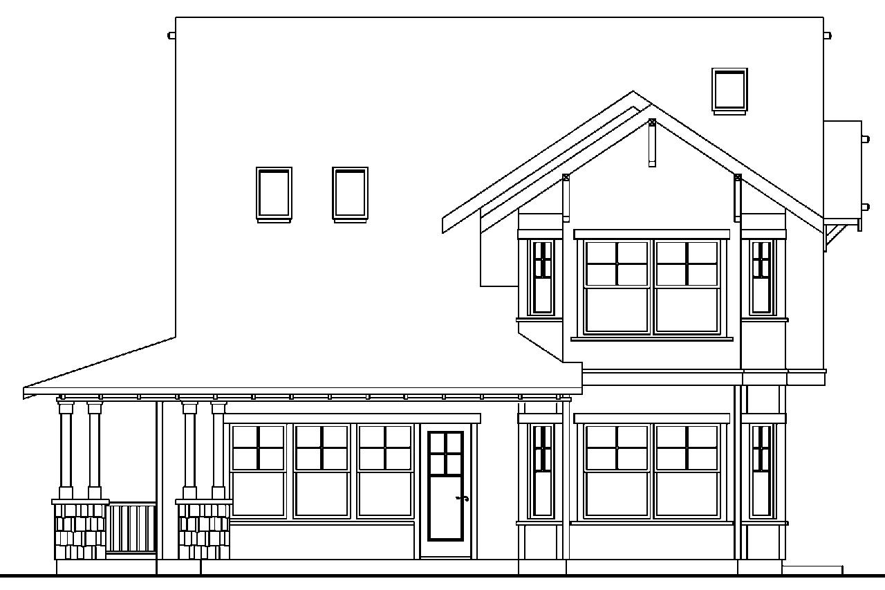 Floor Front Elevation Garage : Craftsman house plans mapleton associated designs