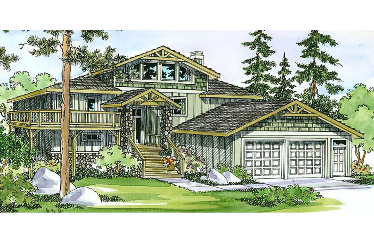 Home plans with pillars joy studio design gallery best for Lodge style floor plans