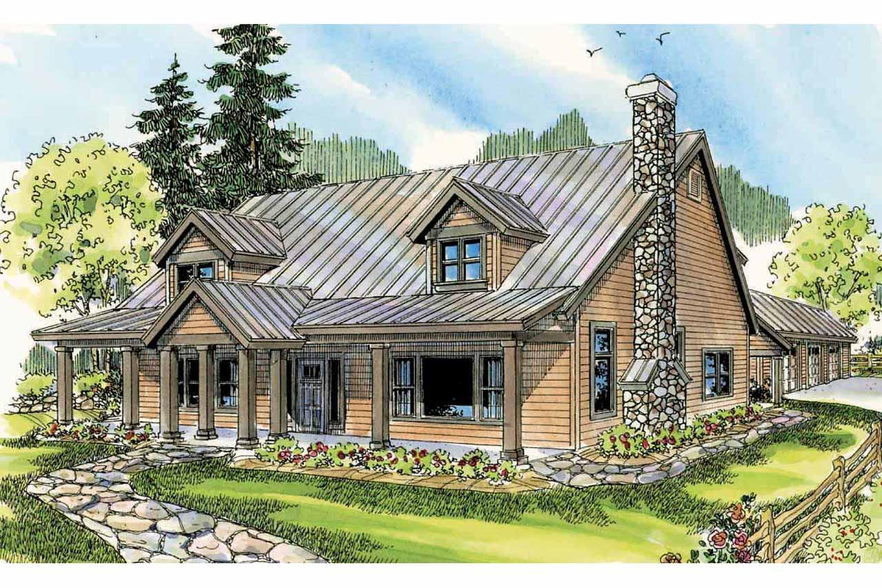 ... Lodge Style House Plan   Elkton 30 704   Front Elevation