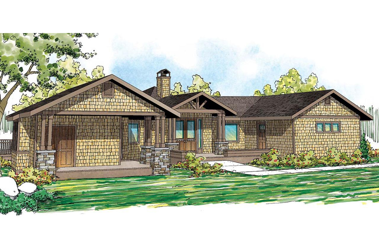 ... Lodge Style House Plan   Sandpoint 10 565   Front Elevation