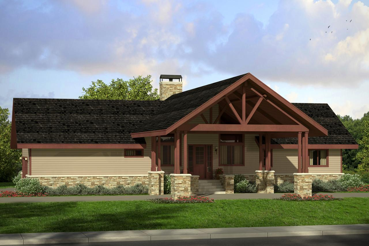 Lodge Style House Plans - Spindrift 31-016 - Associated Designs