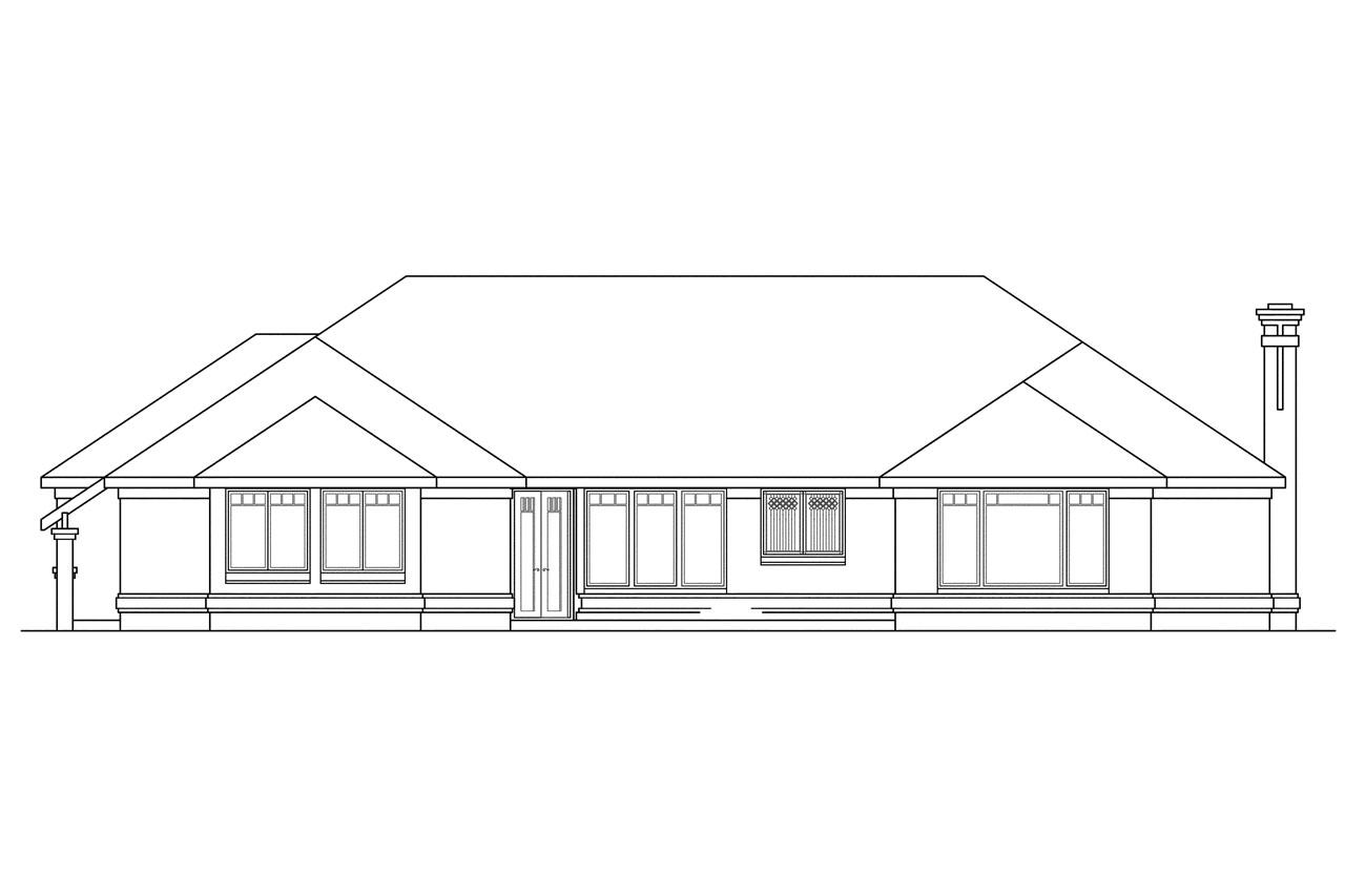 Contemporary house plans westbrook 30 065 associated for What is rear elevation