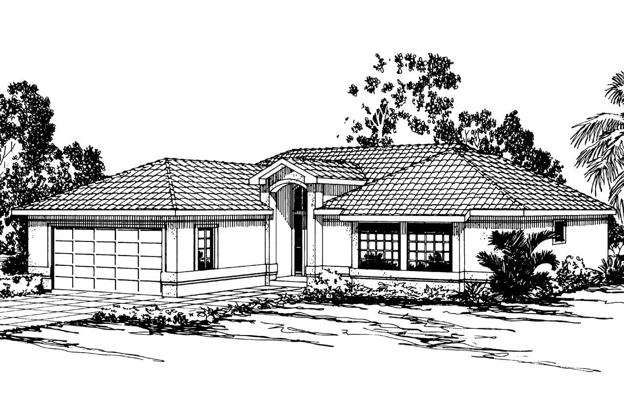Mediterranean house plans camille 11 031 associated for Mediterranean elevation