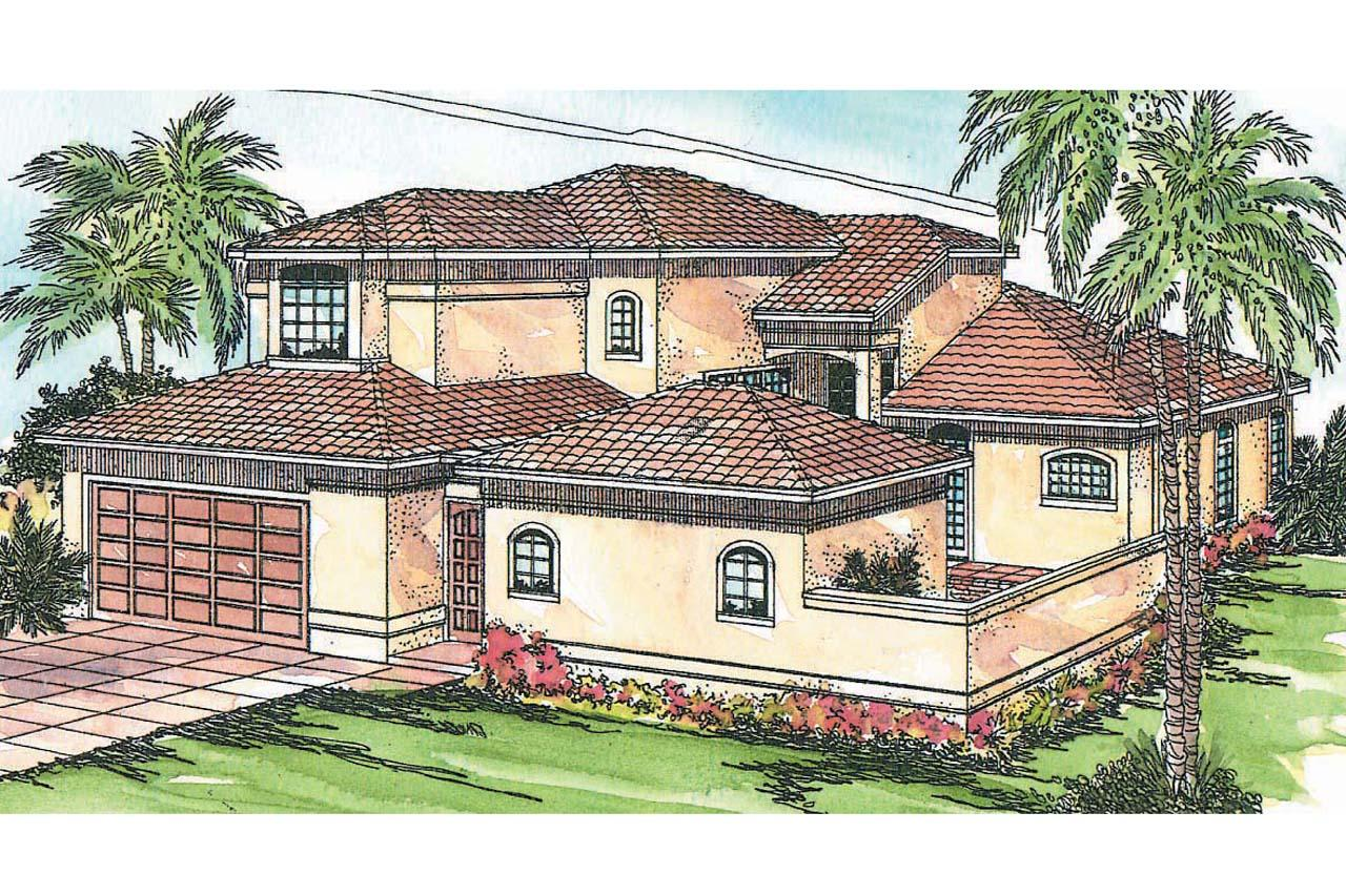 Mediterranean House Plans - Coronado 11-029 - Associated Designs