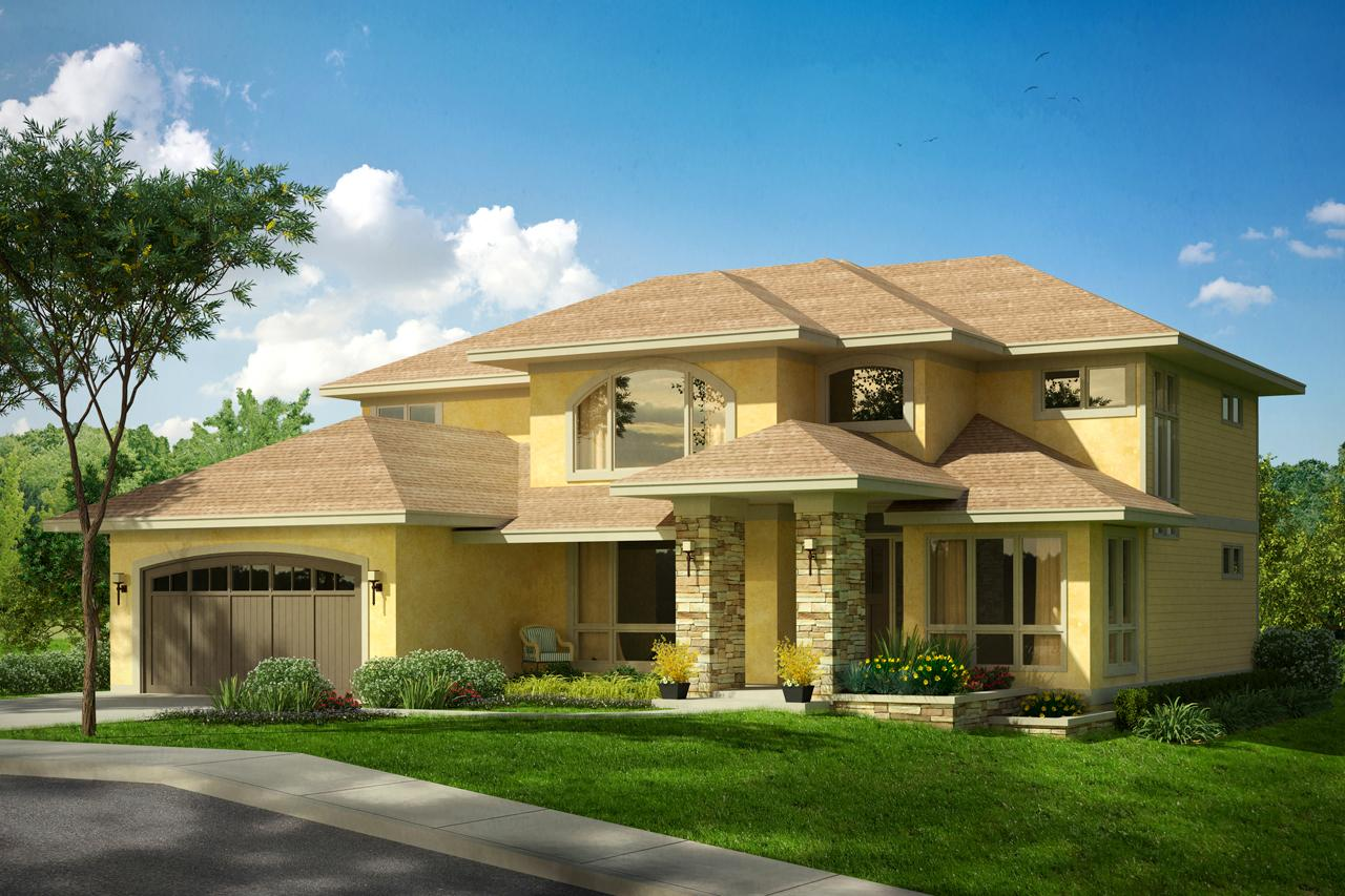Mediterranean house plans summerdale 31 013 associated for Mediterranean elevation