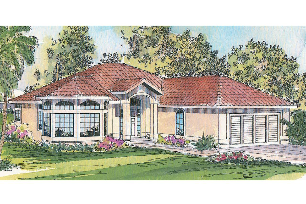 Mediterranean house plans velarde 11 051 associated for Mediterranean house plans