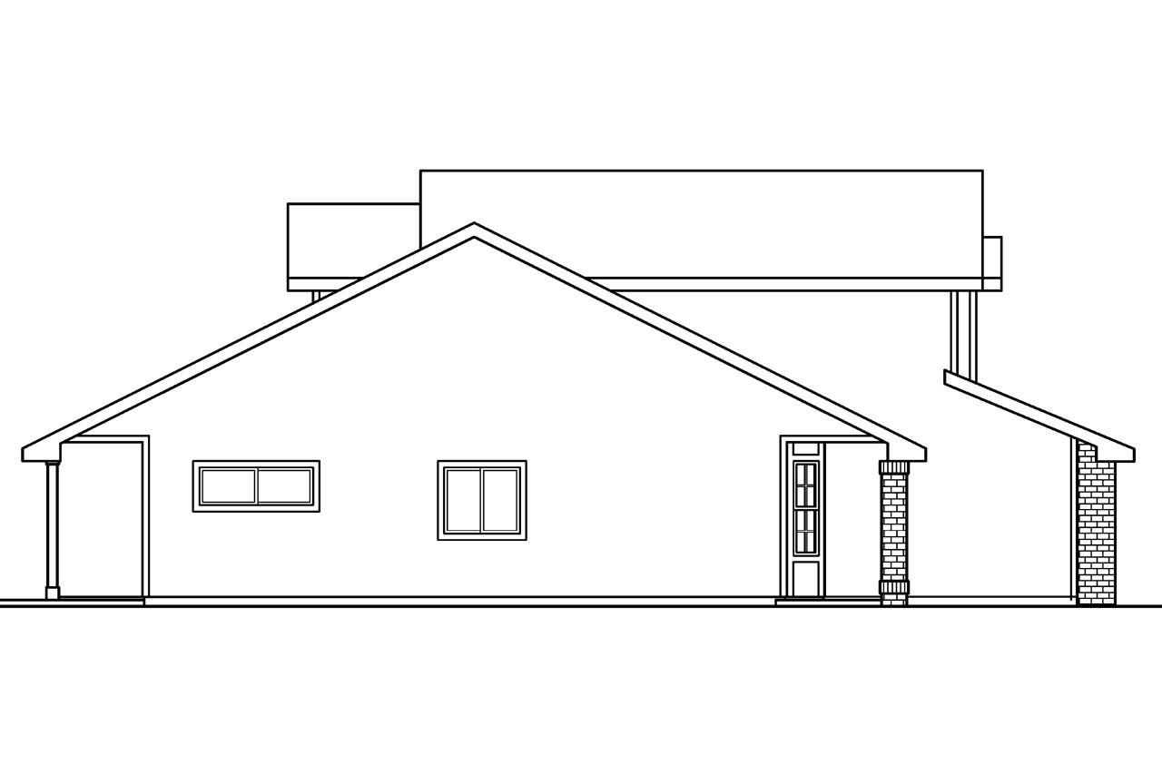 Contemporary House Plans - Blanchard 30-550 - Associated
