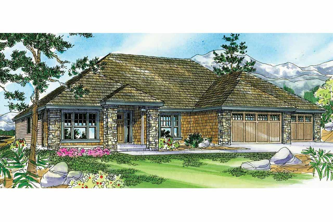 Prairie Style House Plans Creekstone 30 708 Associated
